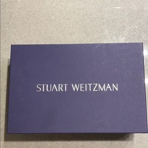 Stuart Weitzman white satin heels